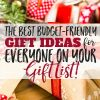 The Best Budget-Friendly Gift Ideas for Everyone on Your Holiday Gift List!
