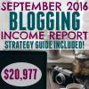 September 2016 Blogging Income Report