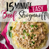 15 Minute Easy Beef Stroganoff