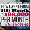 How I Went From $18/month to $86,000/month Working From Home