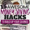 How to Build Savings: 15 Awesome Money Saving Hacks