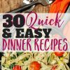 The Ultimate Family Dinner Recipe Roundup: 30 EASY Recipes for Dinner