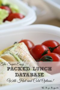 The super easy packed lunch database with hot and cold options.