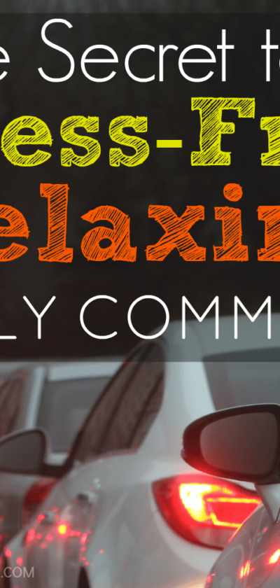 The secret to a stress free relaxing commute