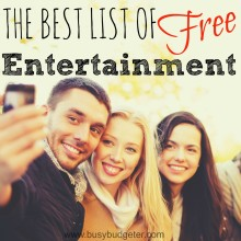 Free entertainment! Things to do for free when you're trying to save money…