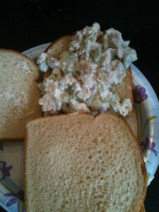 You can keep on budget with a tasty chicken salad sandwich! busybudgeter.com