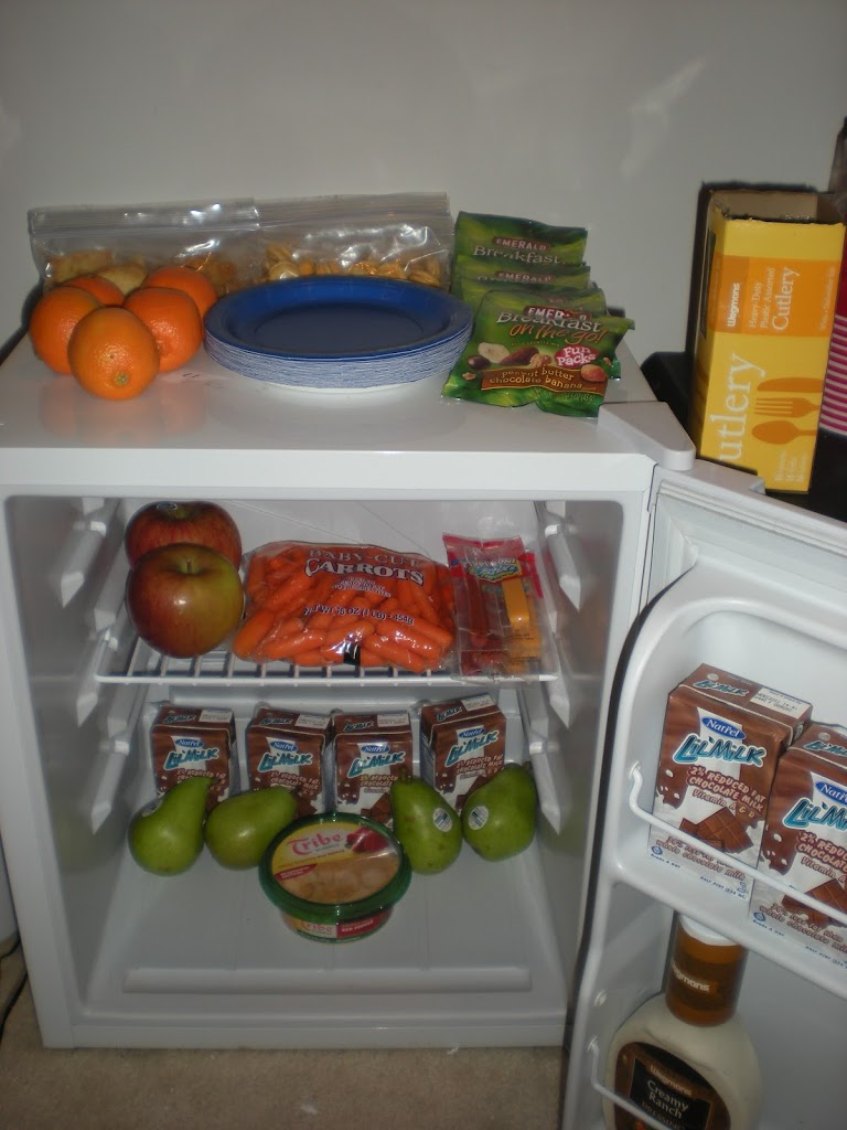 Living Room Snack Station: (and how to adjust your program when needed).