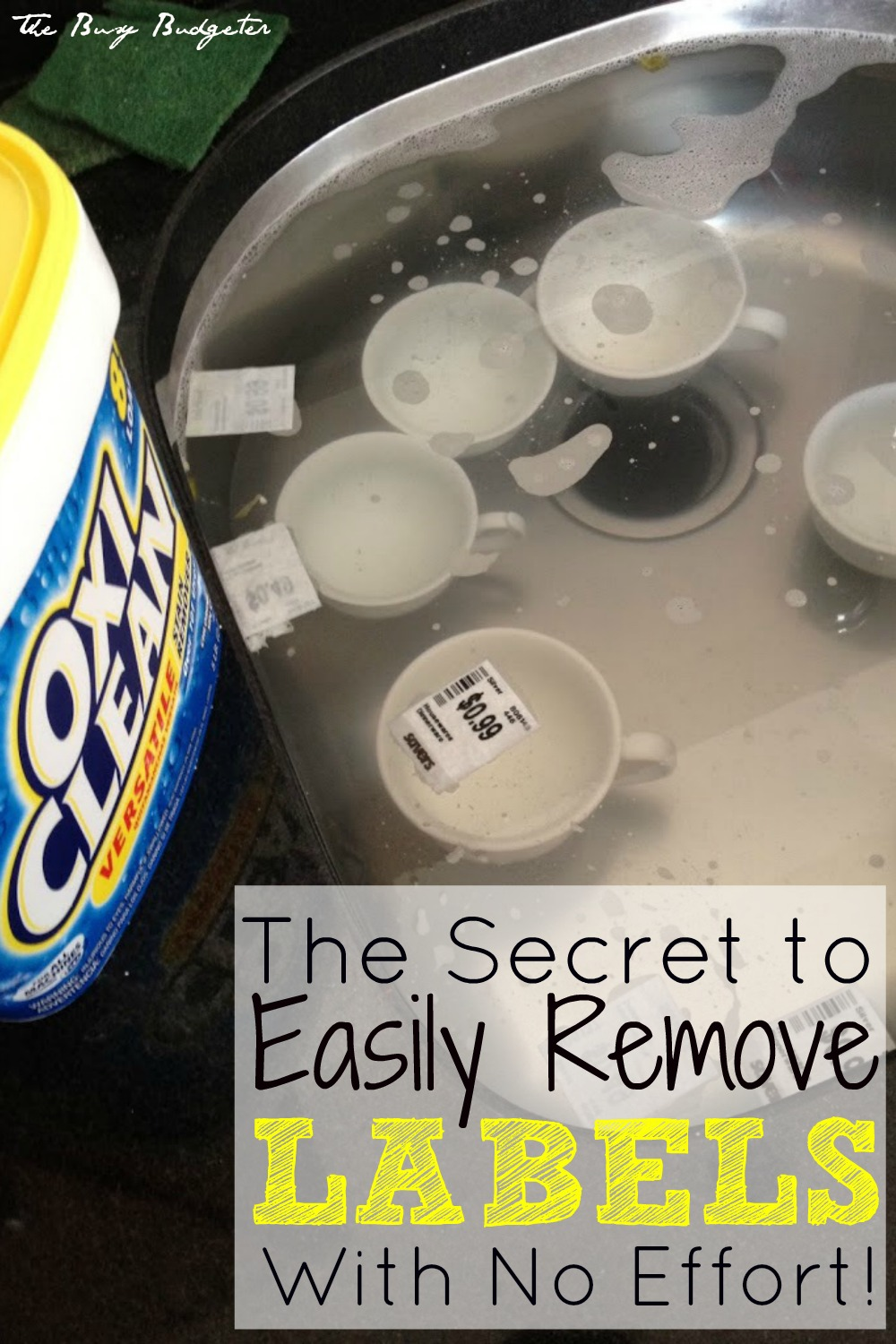 The secret to easily remove labels with no effort
