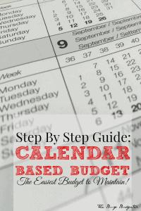 calendar based budget