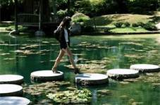 These stepping stone features are breathtaking and just inspiring. Relaxation that's not expensive! busybudgeter.com