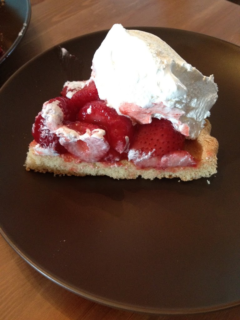Strawberry Shortcake: 10 minute dessert for less than $0.86 per serving and 150 calories using pantry ingredients you can keep on hand.