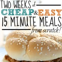 2 Weeks of Cheap and Easy 15 Minute Meals From Scratch!