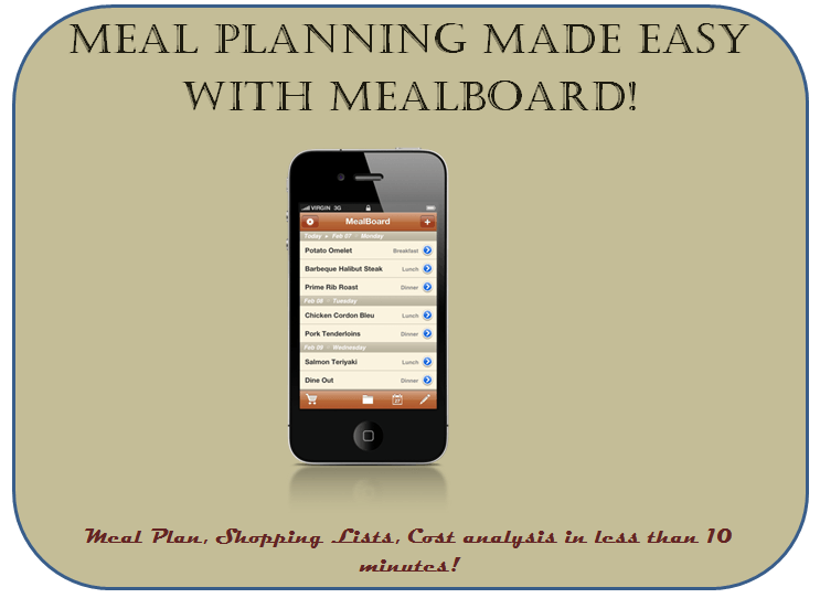 Meal Planning Made Easy With MealBoard: Meal Plan and Shopping List in 10 Minutes!