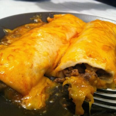 Worlds Easiest Beef Enchiladas!