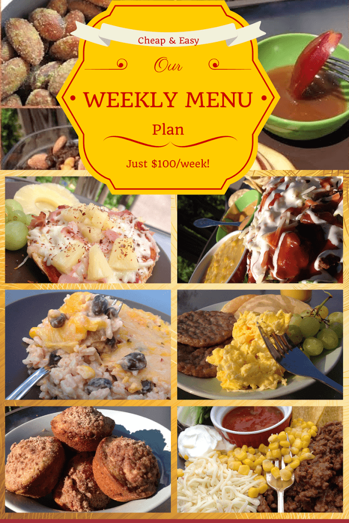 Cheap Weekly Menu and Shopping List ending August 1st 2014 (Cheap, Easy Meals for $7/person per day)