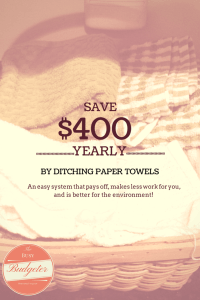 paper towel alternatives