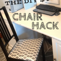 $4.00 DIY Chair Make Over in 15 minutes!
