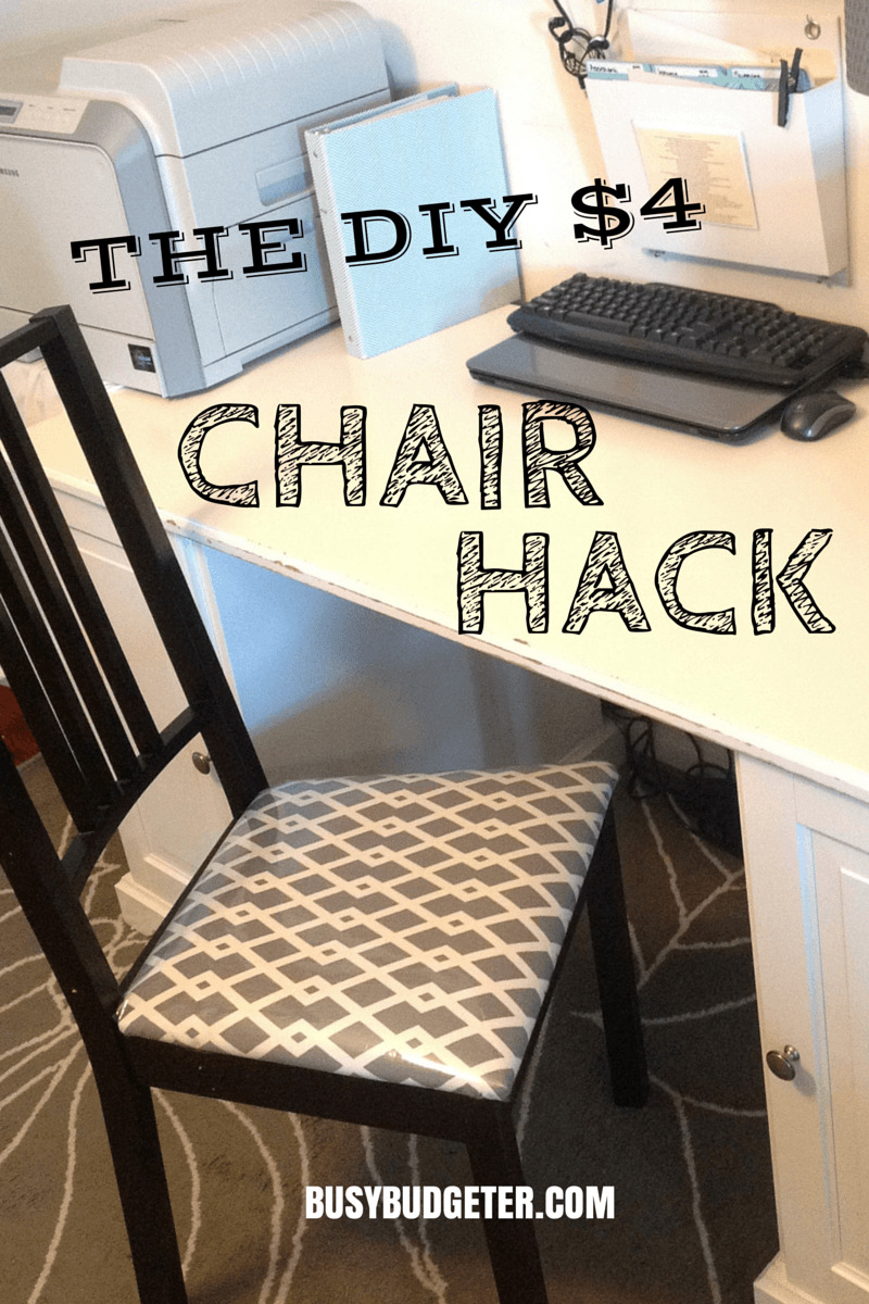 diy chair upholstery & $4 DIY Chair Makeover in 15 Minutes! | DIY Chair Upholstery | Busy ...