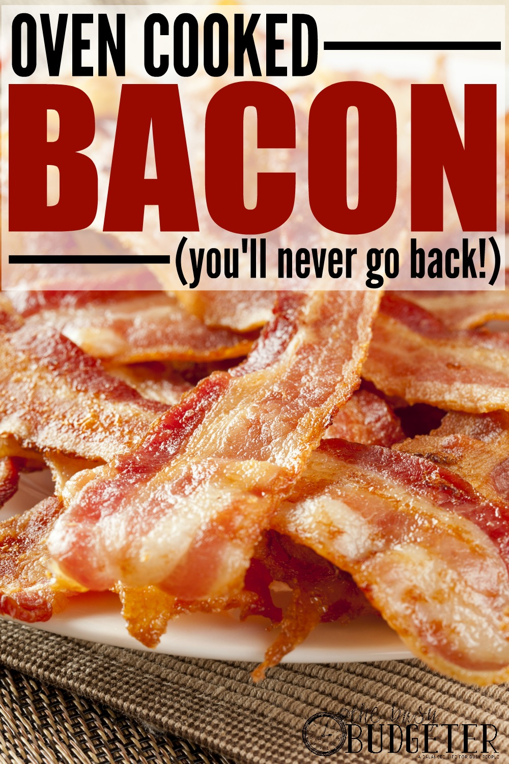 How to Batch Cook and Freeze Bacon. Omg, Completely agree! My cousin taught me this trick and I couldn't believe how easy it was to make a giant batch of bacon. It's easier to do this than just to make a few slices for breakfast! We keep a gallon bag in the freezer now and add it to EVERYTHING. Soups, salads, breakfast... easy oven bacon means happy husband. :)