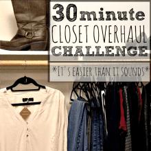 30 Minute Closet Overhaul Challenge: 30 Minutes To Your Dream Wardrobe!