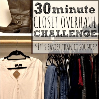 30 Minute Closet Overhaul Challenge: 30 Minutes To Your Dream Wardrobe!