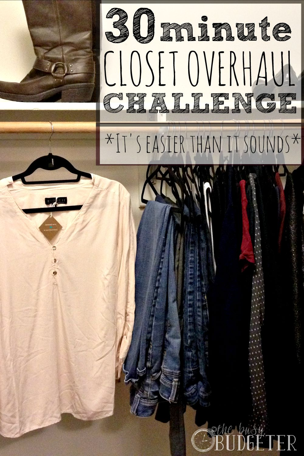 30 minute Closet Overhaul Challenge