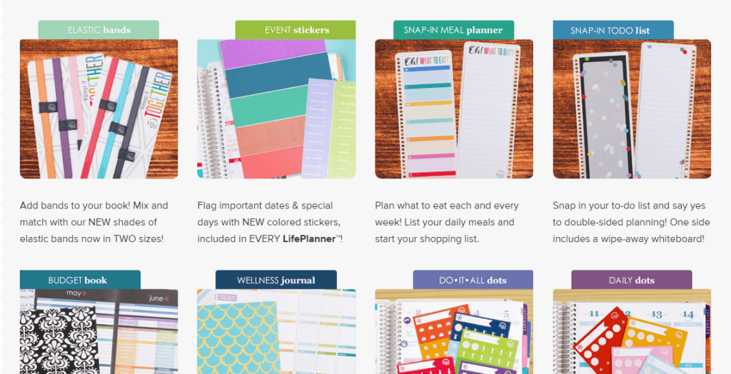 Erin Condren's Life Planner with customizable options.