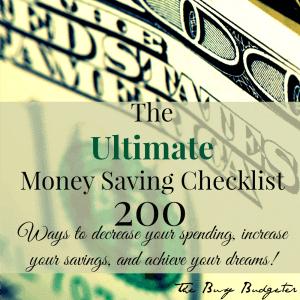 money saving checklist market 1 square