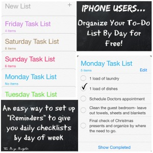 Use Your iPhone to organize your to-do list by day for free!