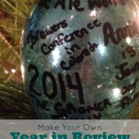 "Cheap DIY ""Year In Review"" Christmas Ornament"