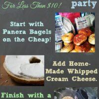 Super Cheap Bagel Bar Party and Tanta Helen's Cream Cheese Recipe!