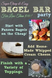 Bagel Bar Party for Less Than $10!