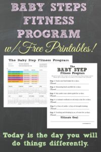Baby Steps Fitness Program with Free Printables.