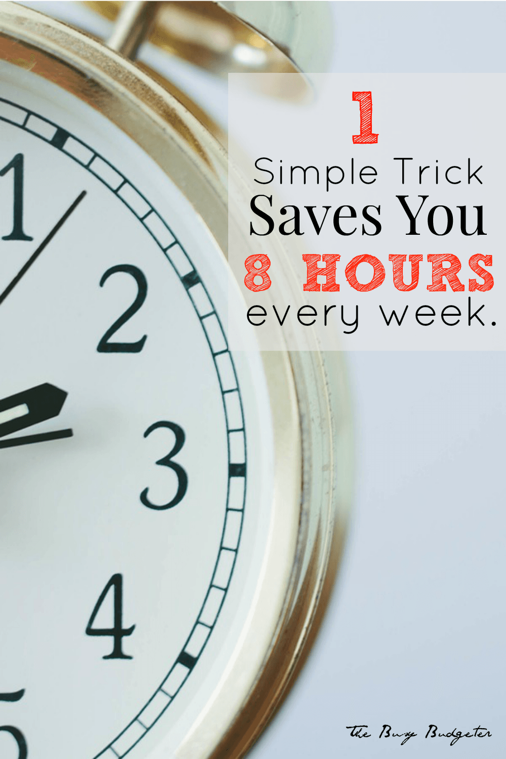 This one simple trick saves you time and money!
