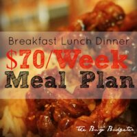 Our $70/week Meal Plan for Four People: 20 Min. Meals! Breakfast, Lunch and Dinner (Includes Grocery List and Price List).