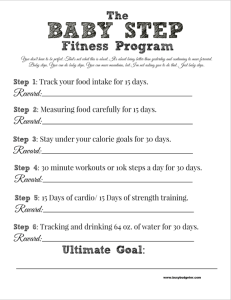 fitness reward printable