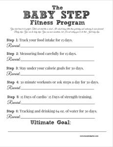 fitness reward printable