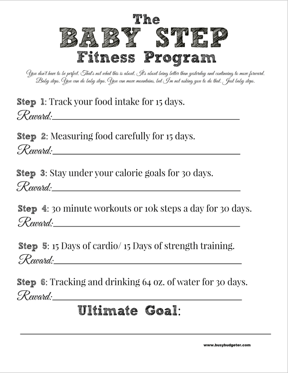 The Baby Step Fitness Program with Free Printables. - The ...