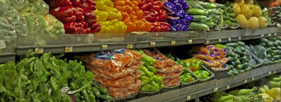 Shop just once and eat all week by planning meals with lots of perishable fruits and veggies in the first days after shopping, then switching to canned and frozen veggies for the remainder of the week.