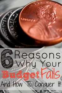 6 Reason why your budget fails and how to conquer it!