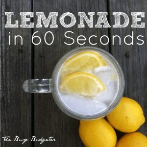 60 second lemonade recipe www.busybudgeter.com