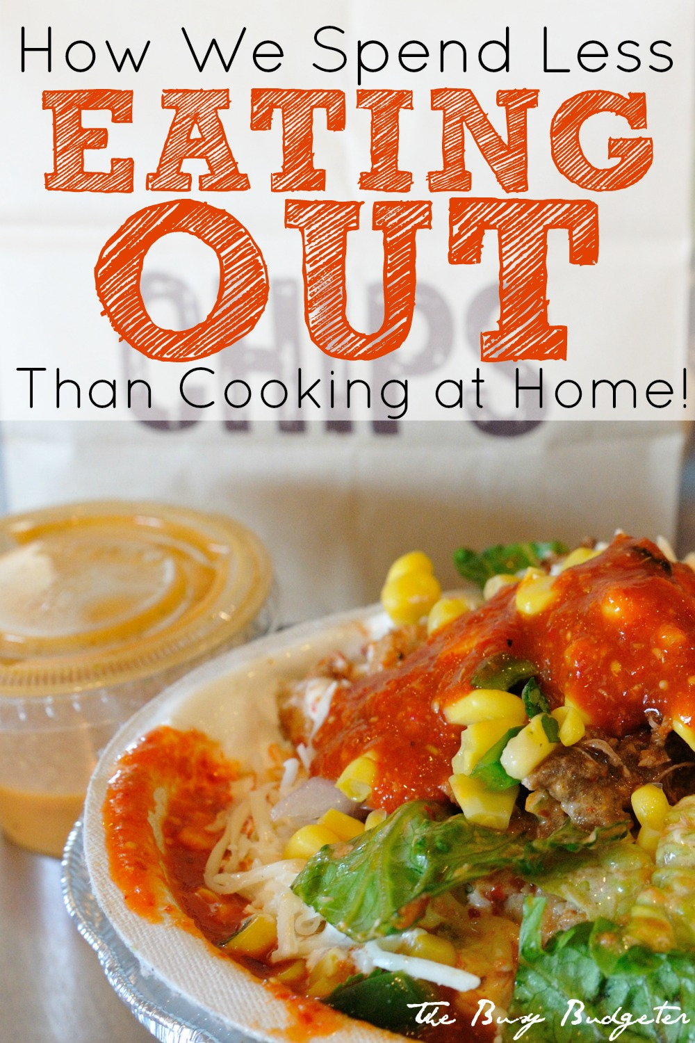How we spend less eating out than cooking at home!