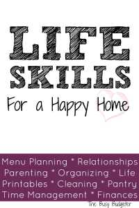 Life Skills For A Happy Home: Definitely doing this! I mean, I think I'm pretty capable in a lot of these areas but there's always room for improvement, right? Plus I'm kinda terrible at menu planning - definitely an area I could use help in!