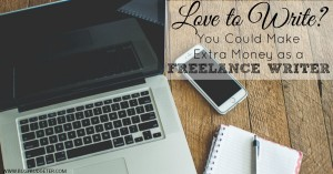 How you can get into freelance writing to earn extra money from home