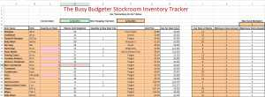 The Busy Budgeter Stockroom Inventory Tracker