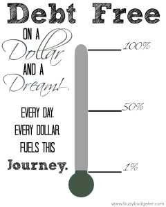 Free Debt Thermometer Printable