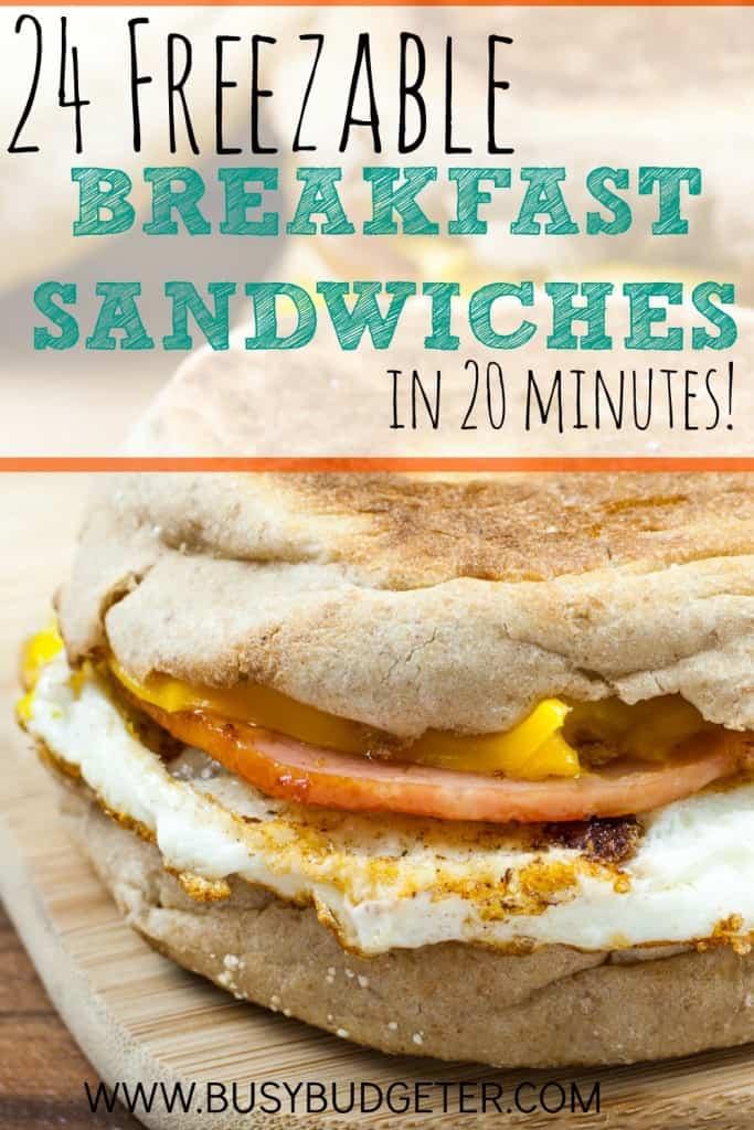 24 FREEZABLE BREAKFAST SANDWICHES