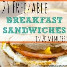 Freezer Breakfast Sandwiches… Is it Worth it?