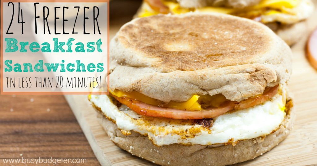 24 freezer breakfast sandwiches