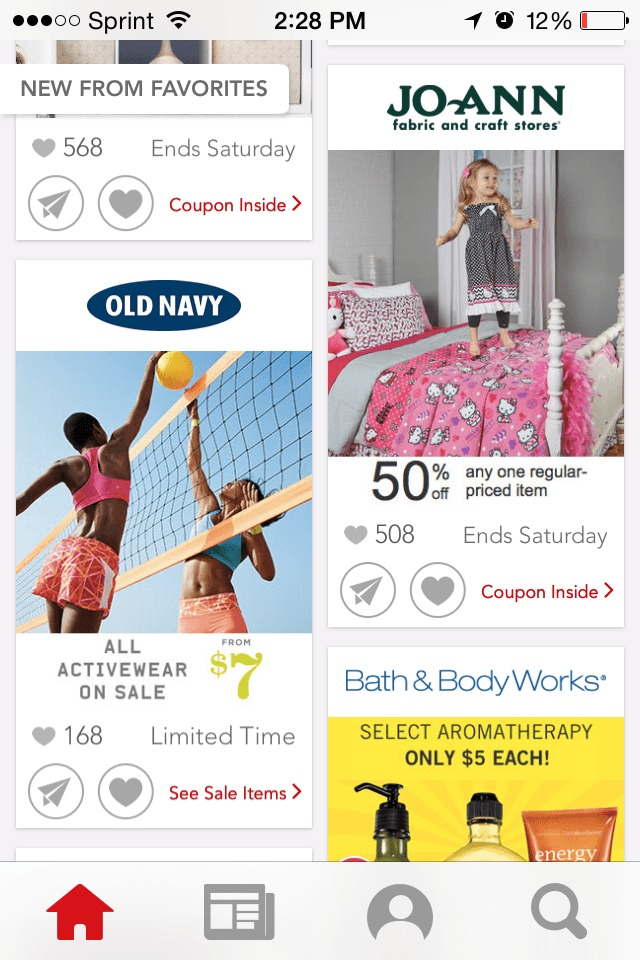 Screenshot of the Shopular App